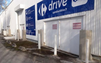 Protection anti-inondation d'une zone commerciale – Carrefour