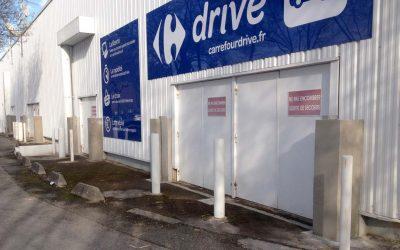 Protection inondation d'une zone commerciale – Carrefour
