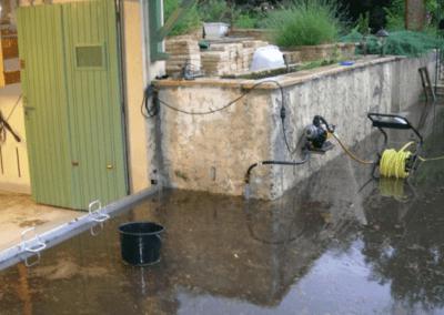 inondation d'un garage