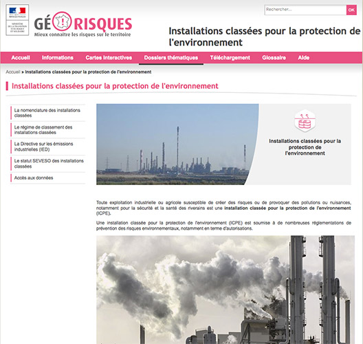 georisques-installations-classees seveso retention eaux incendies