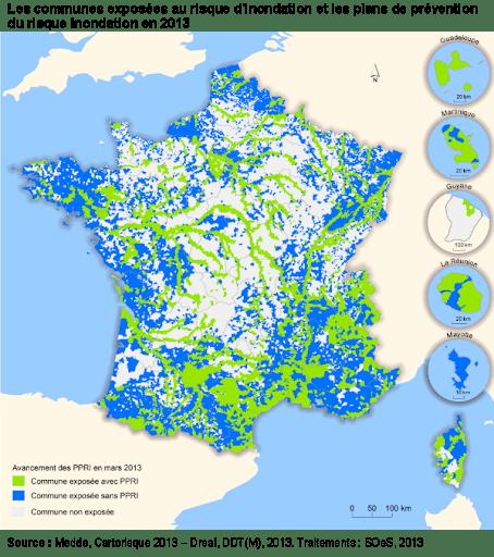 carte des risque d'inondation en France