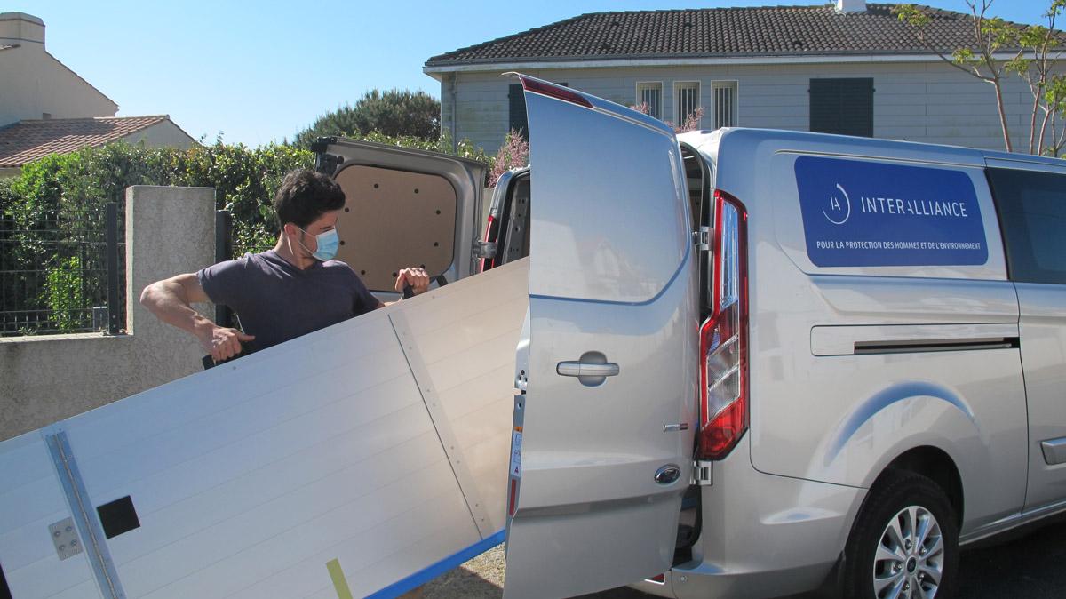 Pose et livraison de batardeaux pour l'AMPRI par Interalliance