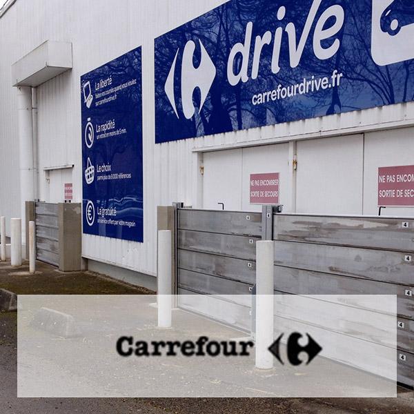 Protection inondation d'une zone commerciale pour Carrefour